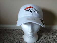 Denver Broncos New Era Women's White Adjustable Hat