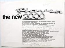 LANCIA Flavia 2000 Original Cars Sales Brochure circa 1971 #8799360