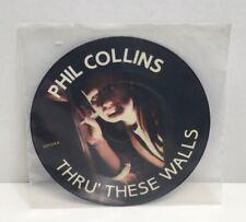 "Phil Collins Thru These Walls 45 rpm 7"" Picture Disc Vinyl Record Virgin 1982 EX"