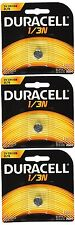Duracell DL1/3N CR1/3N 3V Lithium Battery 3 Pack - FREE Shipping USA Seller
