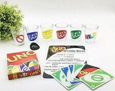 Drunk UNO Set of 6 Shot Glasses Perfect for adults game night