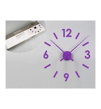 Reloj de pared adhesivo morado
