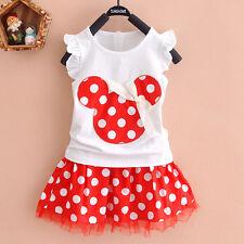Kinder Baby Mädchen Minnie T-shirt Top + Hose Kleider Set Kleidung Kombinationen