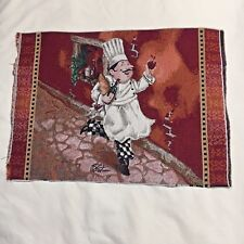 Tapestry Fabric Craft Panel Pillow Placemat Upholstery Remnant  'Baker's Man'