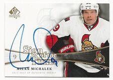Milan Michalek 2011-12 SP Sign Of The Times Autograph Card # SOT-MM.