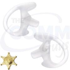 MEDIUM PAIR OF CLEAR EARMOLDS FOR MOTOROLA SURVEILLANCE EARPIECE ACOUSTIC TUBE