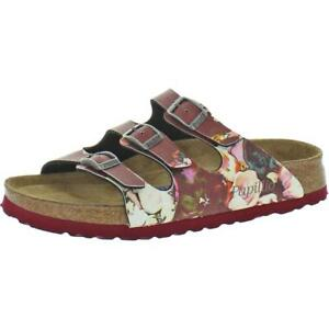 Papillio by Birkenstock Womens Florida Red Footbed Sandals Shoes 35 BHFO 3196