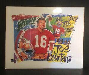 "Joe Montana ""A Football Legend"" 1995 Brian Fujimori Lithograph Print 20x16 New"