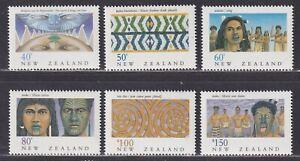 "New Zealand Scott 997-1002 XF MNH 1990 New Zealand Heritage ""The Maori"" Issue"