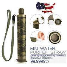 Portable Water Filter Straw Purifier Camping Emergency Gear Supply Survival Tool