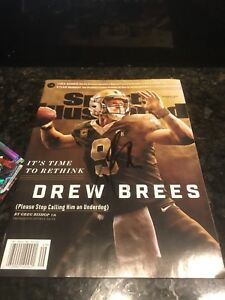 DREW BREES NEW ORLEANS SAINTS SPORTS ILLUSTRATED Signed Autograph
