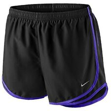 NIKE Women's Dri-FIT Tempo Running Shorts 624278-069 Black / Grape Size XS