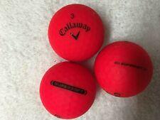 24 Callaway Matte Red Color(Mix supersoft & / or superhot)Mix 5A/4A Golf Balls.
