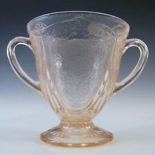 More details for hazel atlas royal lace pink depression glass 1930's sugar bowl