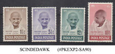 INDIA - 1948 1st ANNIV. INDEPENDENCE / MAHATMA GANDHI SG#305-308 - 4V - MH