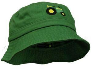 NEW John Deere Green Toddler 2T-4T Tractor Bucket Hat Cap LP73350