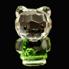 Mini Cat green Hello Kitty Austrian crystal figurine ornament sculpture RRP$79