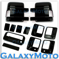 08-15 Ford Super Duty Black Mirror+4 Door Handle w/ PSG Keyhole+Tailgate Cover