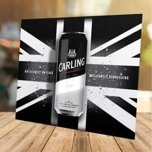 Carling Beer Lager inspired Advertising Bar Pub Shed Garage Man Cave Metal Sign