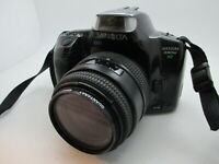 Minolta Maxxum 330si RZ 35MM SLR Film Camera w/ Quantaray 35-80mm AF lens GREAT!