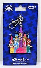 Disney Princess Rapunzel Ariel Aurora Belle Cinderella Lanyard Medal NEW CUTE