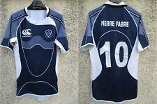 Maillot rugby CASTRES OLYMPIQUE porté n°10 CANTERBURY bleu marine worn shirt L