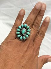 Carolyn Pollack southwestern sterling 925  turquoise ring size 7