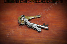 Mountain Bike Chain Key Ring - Bicycle Fixie Road Fathers Day Birthday Present