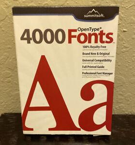 Summitsoft-Over 4000 OpenType fonts for Windows / New Sealed