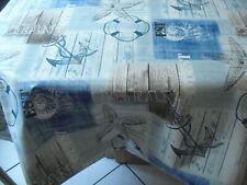 Tischdecke Wachstuch rund 160 cm Winter Home Berge Abwaschbar 8011-1