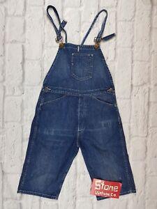 Levi's Vintage Clothing LVC Distressed Overalls Dungarees Shorts Bib Brace W27