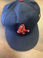 Vintage Boston Red Sox Snapback Adjustable Hat Cap Alternate Sox Navy Blue Rare