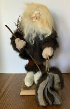 "The Tender Art Collection WOODLAND SANTA / TRAPPER 15"" Tall Christmas Decor"