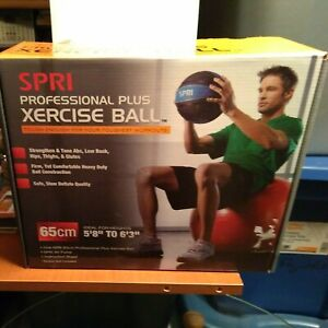 """NEW IN BOX SPRI Professional Plus Xercise Ball  65cm Ideal for 5' 8"""" to  6' 3"""" H"""