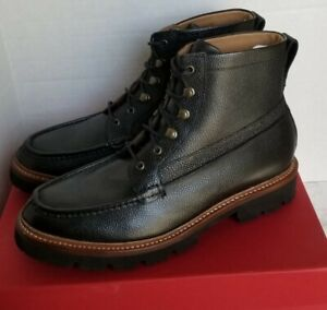 MSRP $395, Grenson G2 Rocco Black Grain Leather Combat Boots, Size 11US