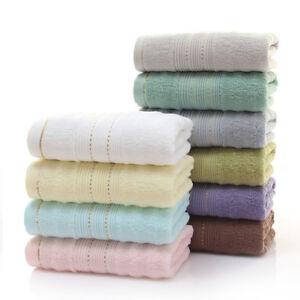 100% Cotton Solid Color Wash Cloth Absorbent Hotel Bathroom Men Women Hand Towel