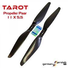 1 Paar CFK TAROT 11x5.5 Carbon Propeller Luftschraube (1x CW / 1x CCW) f.Copter