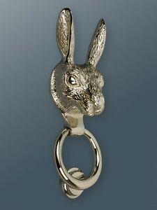 Brass Bee Door Knocker - Nickel Finish - Solid Brass Hare Door Knocker