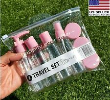 7 PCs Empty Bottle Set, Carry On Travel Bottles, Plastic Bottle & Jar *US SELLER