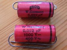 ERO Rodenstein Kondensator EROID 0,022µF1000V- 400V~ VDE FMF KH fo 7,2Mz. Neu  .