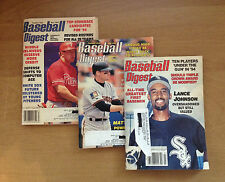 3 BASEBALL DIGEST MAGAZINES..May, July & August 1994  Good Condition!