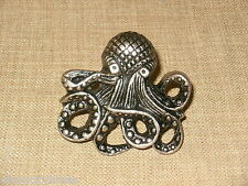 NEW~Highly Detailed Pewter Octopus Cabinet Knob Drawer Pull Nautical Jules Verne