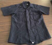 Men's Police Uniform Security Costume Polyester Quality Dark Navy Shirt