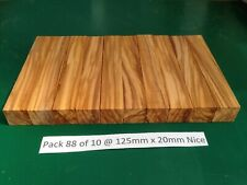 "Pak 88 of 10 Nice Italian Olivewood Pen Blanks 125 x 20,""May 2020 New Stock"""