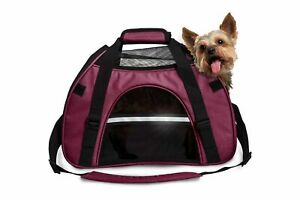FurHaven All Season Pet Tote SMALL Carrier with Weather Guard - Raspberry