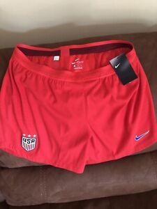 NIKE VAPORKNIT USA  NATIONAL TEAM SOCCER SHORTS RED NWT SIZE XL women
