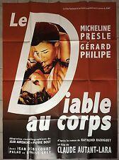Affiche LE DIABLE AU CORPS Autant-Lara GERARD PHILIPE Micheline Presle R120x160*