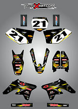 Suzuki RMZ 250 2007 - 2009 Full Graphics Kit BARBED style decals / stickers