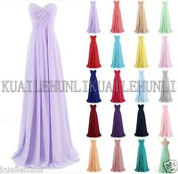 Strapless Chiffon Formal Party Cocktail Evening Prom Bridesmaid Dresses Size6-24
