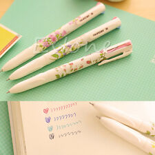 1 Set 3Pcs Summer Story Multicolor Ballpoint Pens Stationery 4 Colors in 1 Pen